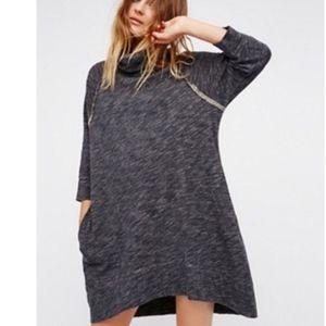 Free People Beach Terri Cocoon Pullover Dress L